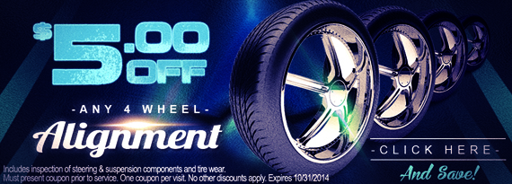$5 off Wheel Alignment in Uniontown OH